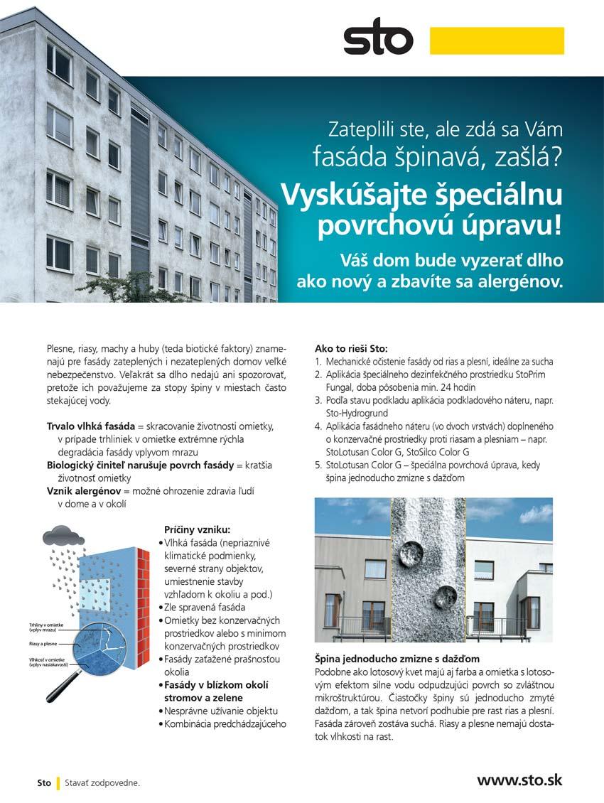 Čistenie fasády systém STO